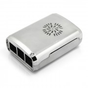 ABS de proteccion del caso de Shell para el Raspberry Pi Modelo B 3 - plata