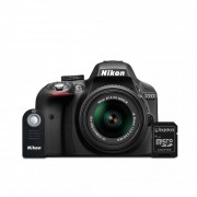 Cámara Nikon D3300 + Lente 18-55mm AF-P + Filtro + SD