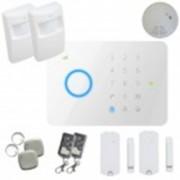 Kit alarme sans fil Gsm T3 + détecteur de fumée