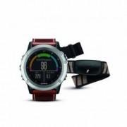Garmin GPS-Multisportuhr Fenix 3 Saphir Silber + Lederarmband ohne Brustgurt