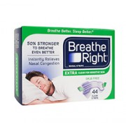 BREATHE RIGHT NASAL STRIPS (Extra - Clear) 44 One Size Strips