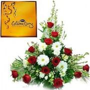 16 Mix Flower n Cadbury Celebration Flowers 186