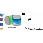 ZEMINI Music Mini Bluetooth Speaker(S10 Speaker) And Headset (JBL_C100 Headset) for ASUS ZENFONE GO