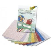 Bringmann Folia 5062309 Lot de 10 feuilles de papier cartonné métallique 230 g/m² 23 x 33 cm Assortiment de couleurs