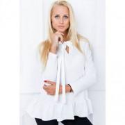 Biała bluzka z kokardą