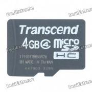 Genuine Transcend Micro SD/TF Memory Card (4GB/Class 4)