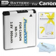 Replacement NB-11L Battery Kit For Canon Powershot ELPH 180 ELPH 190 IS 150 IS ELPH 340 HS A4000 IS SX400 IS ELPH 170 IS ELPH 160 SX410 IS SX420 IS ELPH 350 HS ELPH 360 HS Digital Camera