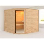 KARIBU WOODFEELING Sauna Massivholzsauna Donan