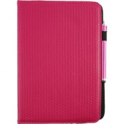 Emartbuy Toshiba Encore 2 10.1 Inch Tablet PC Universal ( 9 - 10 Inch ) Dark Hot Pink Padded 360 Degree Rotating Stand Folio Wallet Case Cover + Stylus