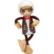 Hape International Hape Happy Family Poseable Wooden Grandfather Play Doll