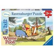 Ravensburger 07564 - Passeggiata con Winnie the Pooh Puzzle, 2x12 Pezzi