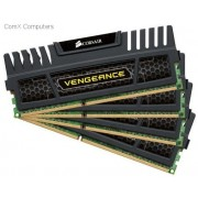 Corsair CMZ16GX3M4A2400C9 Vengeance 16GB (4GB x 4) memory kit with black heatsink