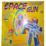 Space Gun With Flashing Space Fan Music Flash Battery Operated Gift Toy