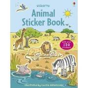 Animal Sticker Book with Stickers by Cecilia Johansson