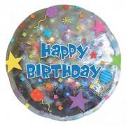 Balon folie Happy Birthday Confetti