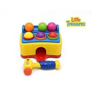 Pound & Play Toddlers Pounding Hammer with Light & Music Toy Game Bench Fun for Preschoolers