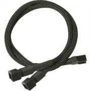 Cablu adaptor Y Nanoxia 3-pini Molex, 60cm, black/black