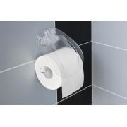 Suport hartie igienica cu ventuza-Transparent