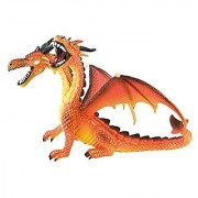 Bullyland Dragon with two heads in orange Action Figure