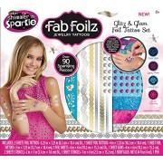 Cra Z Art Fab Foilz Jewelry Glitz N Glam Foil Tattoo Set Box