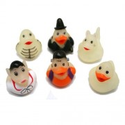Mini Glow in the Dark Halloween Rubber Ducks - Set of 24 Duckies/Duckie/Ducky