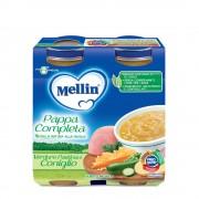 Mellin Pappe complete - Pappa Completa Verdure Pastina Coniglio - Confezione da 500 g ℮ (2 vasetti x 250g)