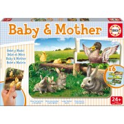 Educa puzzle baby pentru copii Bebe Mamă Puzzle 15865 colorat