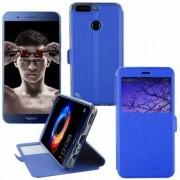 Huawei Etui Rabattable Simili Cuir Bleu Roi et Ouverture Ecran pour Huawei Honor V9