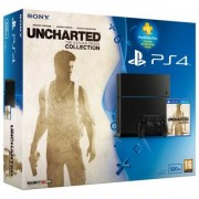 Consola PlayStation 4 + Uncharted: The Nathan Drake Collection + 90 zile PlayStation Plus