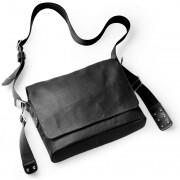 Brooks Paddington Shoulder Bag Canvas total black 2017 Messenger Bags & Kuriertaschen
