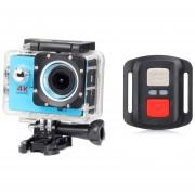 Remoto Deportes Cámara 1080P Completo HD Impermeable-azul
