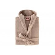 BLANC CERISE Peignoir capuche - coton peigné 450 g/m² sable