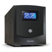 ATLANTIS UPS A03-HP1102 1100VA/550W SINEWAVE UPS+STABILIZ+FILTRI SW SHUTDOWN PC INT. USB - SINGOLA BATTERIA