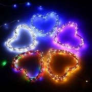 Louiwill 120-LED Super Brillante Secuencia Solar Luces 30FT Modo De Trabajo 2 Alambre De Cobre Luz De Navidad Al Aire Libre Alumbramientos Starry Para Adornar El Jardín, Patio, Boda, Decoraciones Del Día (blanco Cálido)