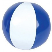 Set of 6 ~ 16'' Beach Balls ~ Blue & White beach ball inflates ~ PATRIOTIC BEACH BALLS ~ Pool Decor Beach Favor Water Play Fun Outdoor Birthday Party by RIN