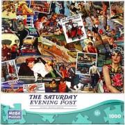 Mega Puzzles - Saturday Evening Post - 1 000 pc Puzzle GOING PLACES