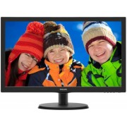 "Monitor TN LED Philips 21.5"" 223V5LHSB2/00, Full HD (1920 x 1080), VGA, HDMI, 5 ms (Negru) + Bitdefender Antivirus Plus 2017, 1 PC, 1 an, Licenta noua, Scratch Card"