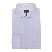 【64%OFF】チェック ホリゾンタルカラー 長袖シャツ ブルー s ファッション > メンズウエア~~その他トップス