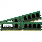 Crucial - DDR2 - 4 GB : 2 x 2 GB - DIMM de 240 pins - DDR2 - 4 GB : 2 x 2 GB - DIMM de 240 pins - 800 MHz / PC2-6400 - CL6 - 1.8 V - sans Mémoire intermédiaire - no ECC