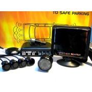 Senzori de Parcare AUTOWATCH ECO-5 Wireless cu 4 Senzori, Camera Video si Monitor LCD