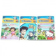 VTech - V.Reader Learning Game - Pack of 3 Games : Toy Story 3 Hello Kitty & Dora The Explorer - VALUE PACK