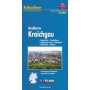 Fietskaart BW03 Bikeline Radkarte Kraichgau | Esterbauer