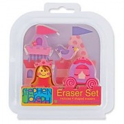 Stephen Joseph Eraser Set-Princess Castle