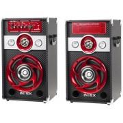 Sistem Audio Intex KOM0654, 2 x 30 W, Radio FM (Negru/Rosu)