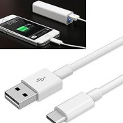 ECellStreet Power Bank Charger Micro Usb Data Cable Short Flat Cable Compatible For 10000mAh QUANTUM HI-TECH Power Bank - White
