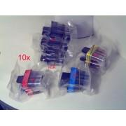 Tinten Patronen 10 Stück Vorteilspack kompatibel zu LC-900 , passend f. Brother Fax-1835C , Fax-1840C , Fax-1940C , Fax-1940CN , Fax-2240C , Fax-2440C