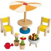 Hape - Happy Family - Doll House Furniture Patio Set