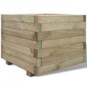 vidaXL Plantador quadrado, 50 x 40 cm em madeira