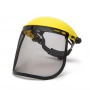 Ecran de protectie faciala cu plasa de otel si banderola de cap.