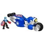 Playskool Heroes Marvel Super Hero Adventures Shield Bike Vehicle with Captain America Action Figure by Playskool